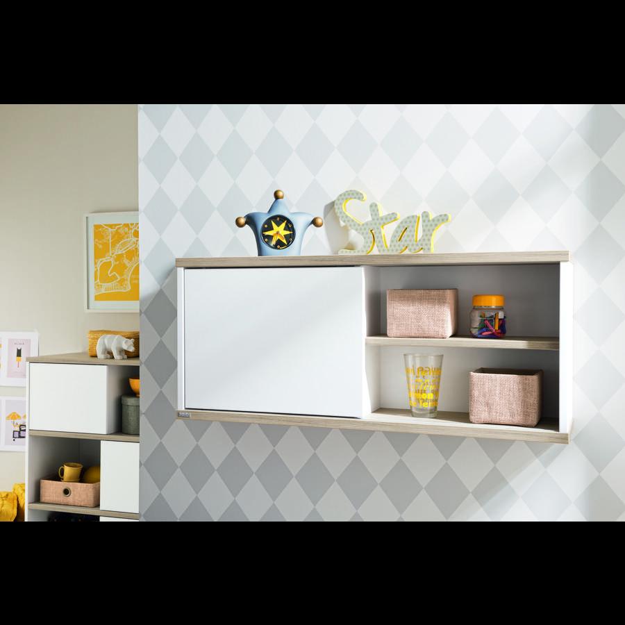 h ngeschrank mit schiebet r preisvergleich die besten. Black Bedroom Furniture Sets. Home Design Ideas