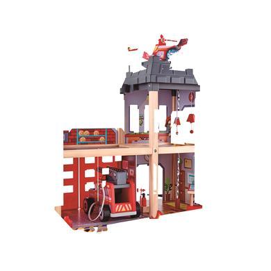 Hape Hasičská stanice - Dřevěný hrací set s autem autem