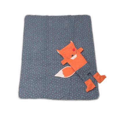 Kindertextilien - DAVID FUSSENEGGER Set Decke in Puppe Fuchs kupfer 70 x 90 cm  - Onlineshop Babymarkt
