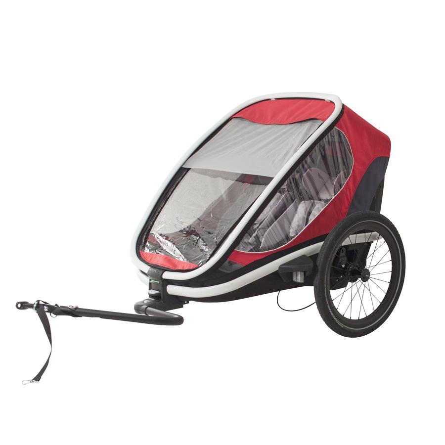 hamax Remorque vélo enfant Outback rouge/gris/noir