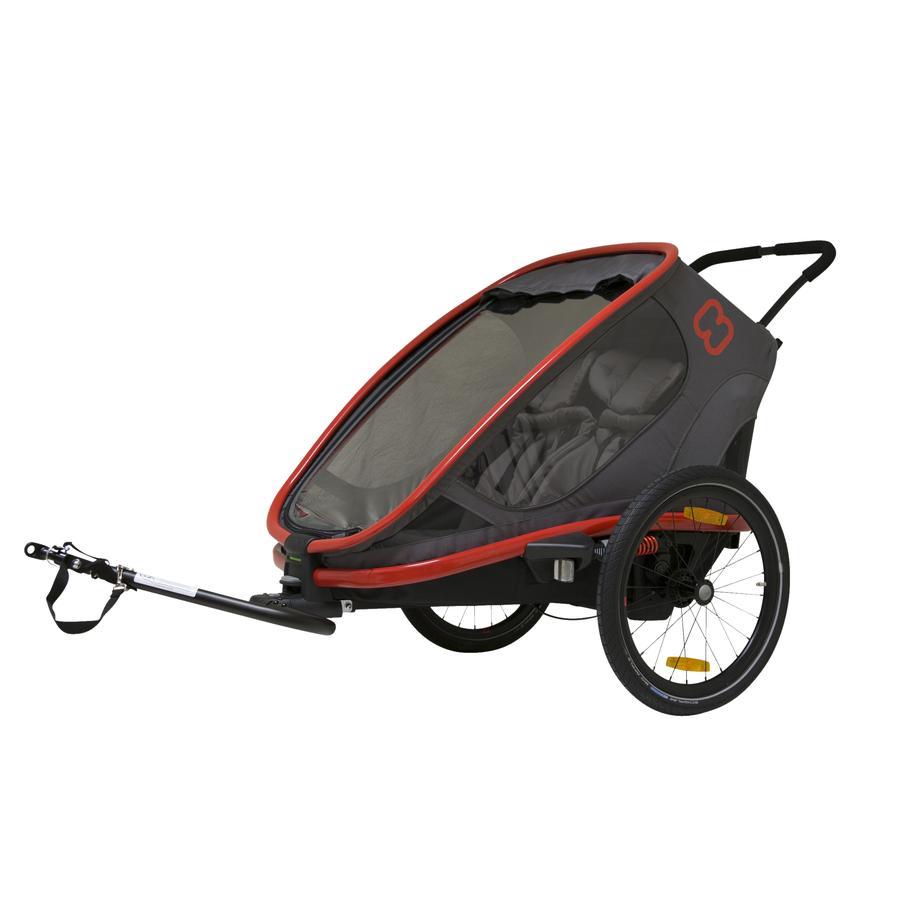hamax Remorque vélo enfant Outback gris/rouge