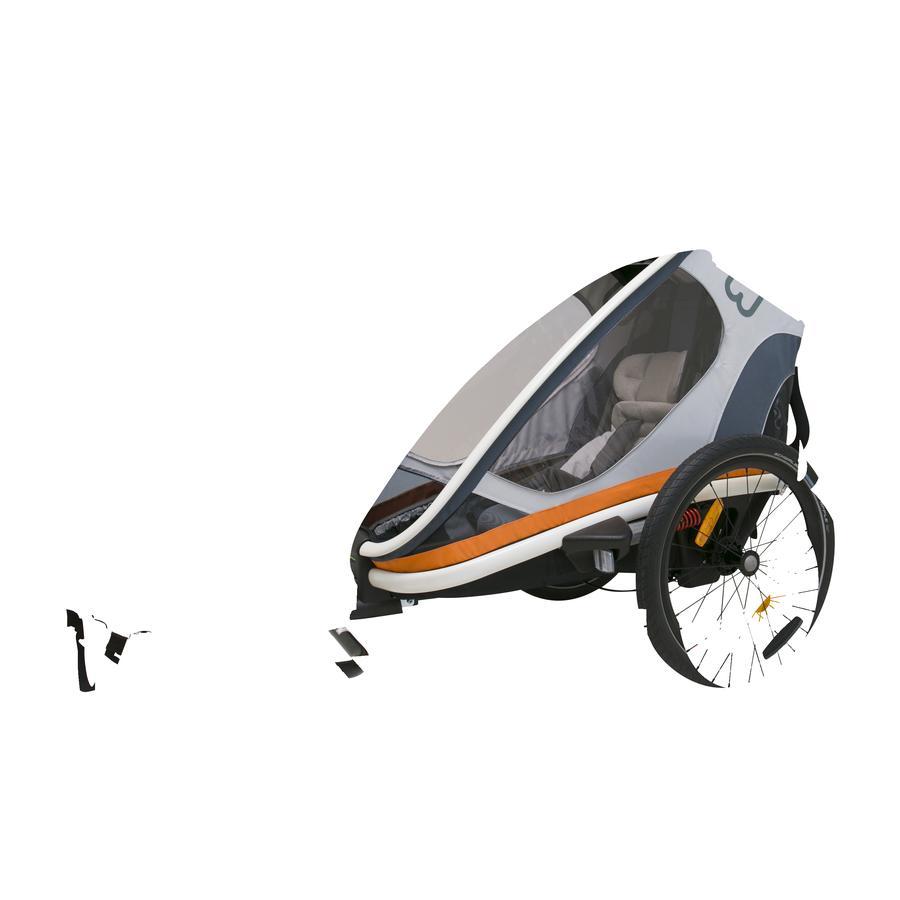 hamax Remorque vélo enfant Outback ONE blanc/gris/orange