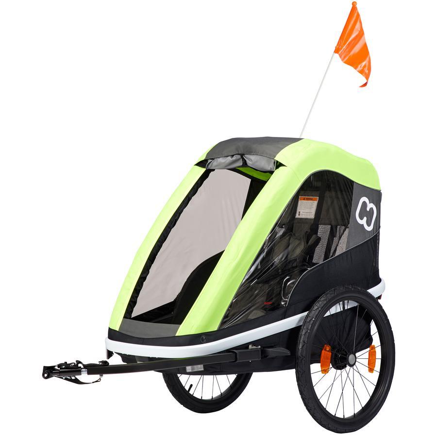 hamax Remorque vélo enfant Avenida ONE jaune lime