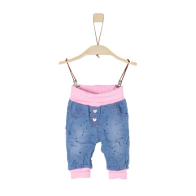 Babyhosen - s.Oliver Sweathose blue denim non stretch - Onlineshop Babymarkt