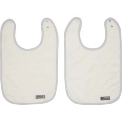 bébé jou bib Fabulous shadow white 2 pack