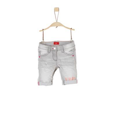 Minigirlhosen - s.Oliver Girls Shorts Bermuda grey black denim stretch - Onlineshop Babymarkt