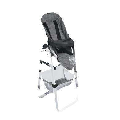 BAYER CHIC Jídelní židlička pro panenku 76 Jeans šedivá - šedá
