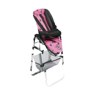 BAYER CHIC Jídelní židlička pro panenku 83 Hvězdičky šedivé - šedá