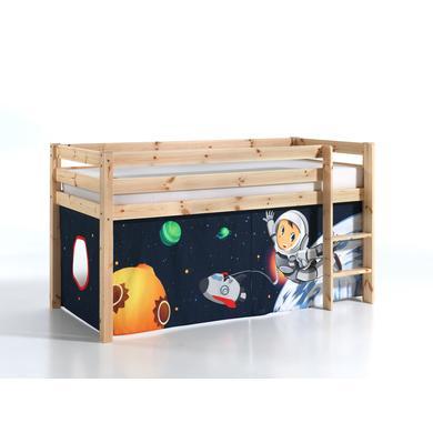 Kinderbetten - VIPACK Spielbett Pino natur Vorhang Spaceman Gr.90x200 cm  - Onlineshop Babymarkt