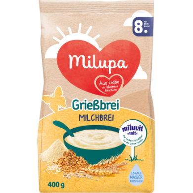Milupa Grießbrei miluvit >>mit<< 400 g ab dem 8. Monat