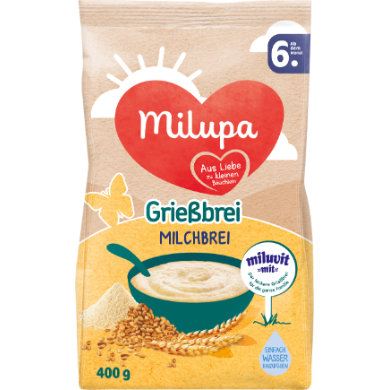 Milupa Grießbrei miluvit >>mit<< 400 g ab dem 6. Monat