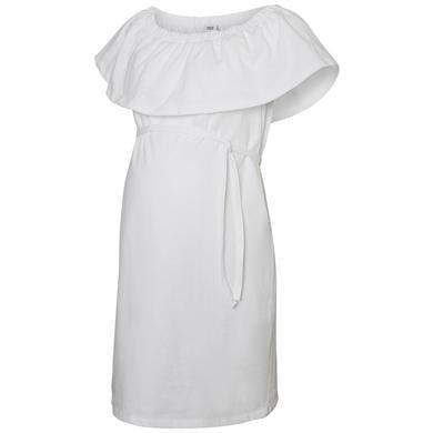 Schwangerschaftsmode für Frauen - mama licious Umstandskleid MLELSA Bright White weiß Damen  - Onlineshop Babymarkt