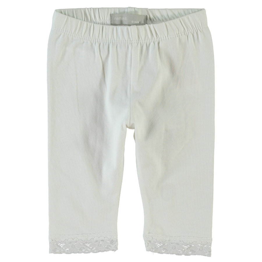 name it Girls Leggings Vista bright white