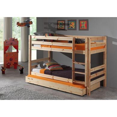 Kinderbetten - VIPACK Etagen Hochbett mit Bettschublade Pino natur 140 cm Gr.90x200 cm  - Onlineshop Babymarkt