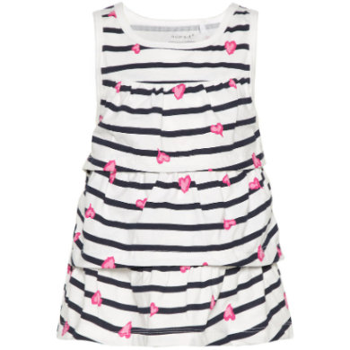 name it Girls Kleid Vigga bright white stripes bunt Gr.80 Mädchen