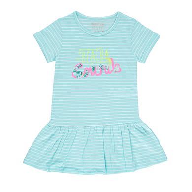 Minigirlroeckekleider - STACCATO Girls Kleid aqua Streifen - Onlineshop Babymarkt