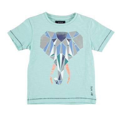 Staccato Boyls T-Shirt Elefant aqua green - türkis - Gr.104/110 - Jungen