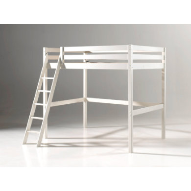 Kinderbetten - VIPACK Hochbett Pino weiß 90 x 200 cm  - Onlineshop Babymarkt