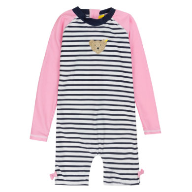 Steiff Girls Badeanzug, gestreift rosa pink Gr.Babymode (6 24 Monate) Mädchen
