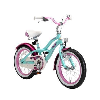 bikestar Premium Sicherheits Kinderfahrrad 16 Cruiser Mint türkis
