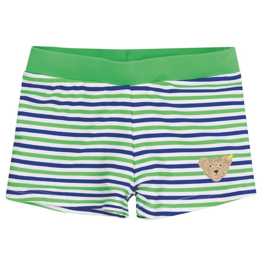 Steiff Boys Swimmshorts, grün gestreift