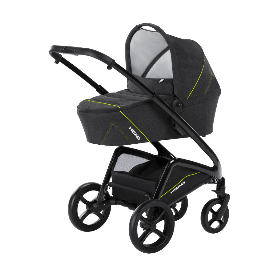 knorr-baby Kombi-Kinderwagen HEAD darkgrey-yellow