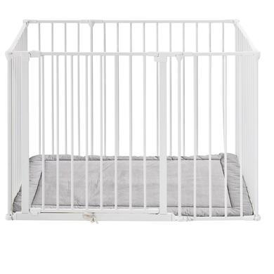 Baby Dan  Square lekegrind med madrass hvit - Hvit
