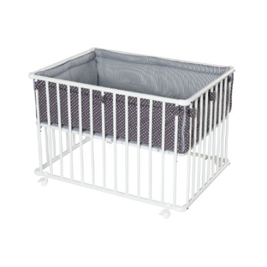 Laufgitter - Schardt Laufgitter Basic weiß 75 x 100 cm mit Einlage Sterne grau Gr.100x75 cm  - Onlineshop Babymarkt