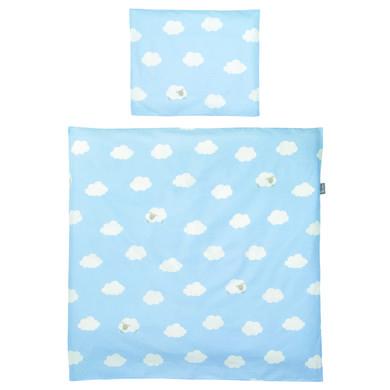 Kindertextilien - roba Wiegenset 2 teilig Kleine Wolke blau 80 x 80 cm  - Onlineshop Babymarkt