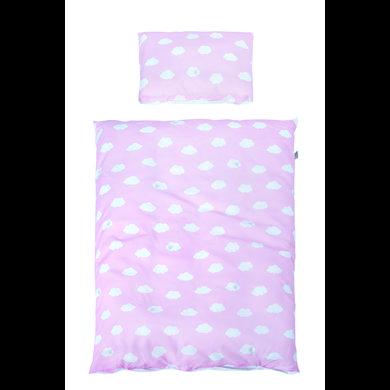 Kindertextilien - roba Bettwäsche 2 teilig Kleine Wolke rosa 100 x 135 cm rosa pink  - Onlineshop Babymarkt