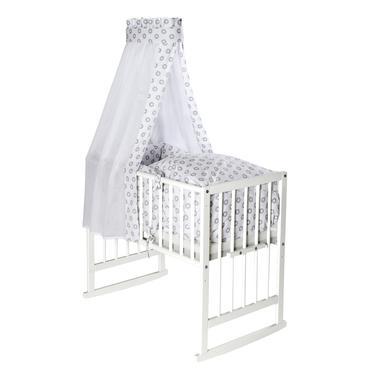 Stubenwagen und Wiegen - Schardt Multifunktionswiege Vario weiß Circle Star grau  - Onlineshop Babymarkt