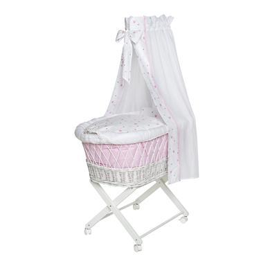 Stubenwagen und Wiegen - Schardt Stubenwagen Babsi weiß Herzchen rosa  - Onlineshop Babymarkt