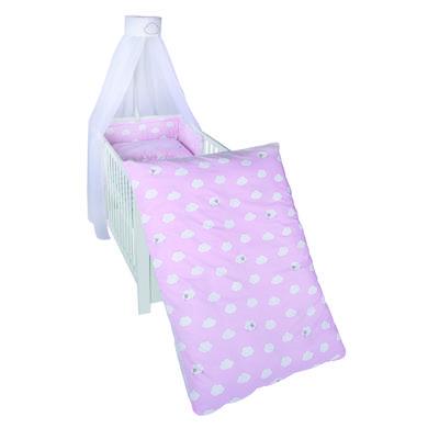 Kindertextilien - roba Kinderbettgarnitur 4 teilig Kleine Wolke rosa 100 x 135cm rosa pink Gr.100x135 cm  - Onlineshop Babymarkt