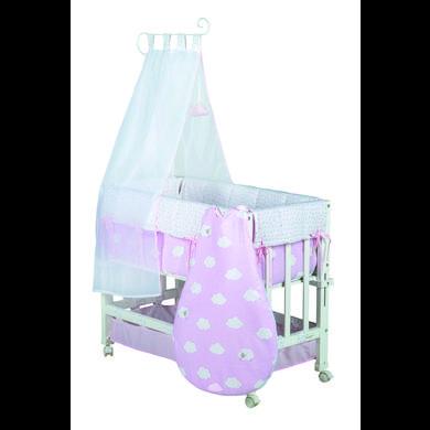 Stubenwagen und Wiegen - roba Stubenbett Kleine Wolke rosa 3 in 1 weiß  - Onlineshop Babymarkt