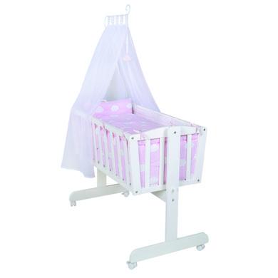 Stubenwagen und Wiegen - roba Komplettwiegenset weiß Kleine Wolke rosa rosa pink  - Onlineshop Babymarkt