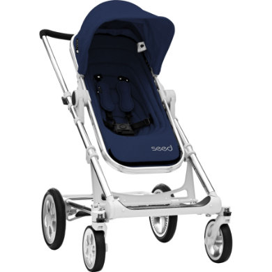 BRITAX Seed Papilio Silver dark navy  black leather 2019