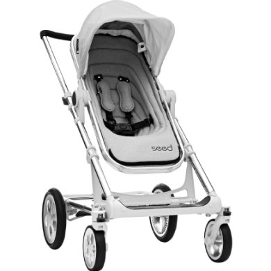 BRITAX Seed Papilio silver grey melange  black leather 2019