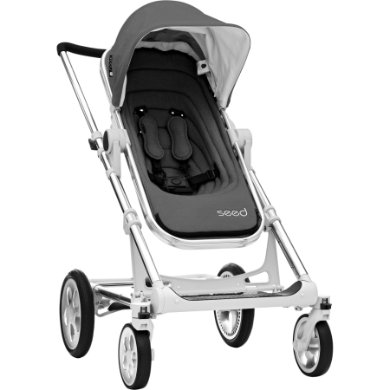 BRITAX Seed Papilio Silver dark grey melange  black leather 2019