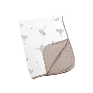 Doomoo Dream Decke Birds taupe - beige