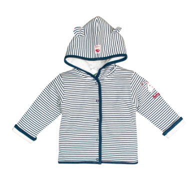 Salt and Pepper BabyGlück Sweatjacke indigo blue melange blau Gr.62 Jungen