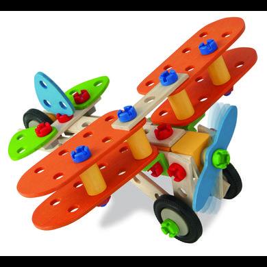 Eichhorn Jeu de construction avion biplan, 85 pièces