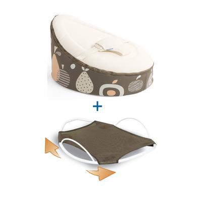 Sitzmöbel - Doomoo Seat Set Sitzsack Swing Wippe Fruit taupe beige  - Onlineshop Babymarkt