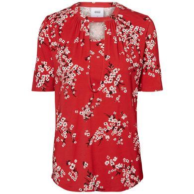 Schwangerschaftsmode für Frauen - mama licious Stillshirt MLIBEN Chinese Red rot Gr.Umstandsmode Damen  - Onlineshop Babymarkt