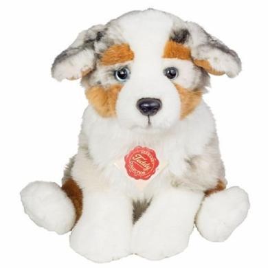 Teddy HERMANN® štěně australského ovčáka, sedící, 22 cm - pestrobarevná