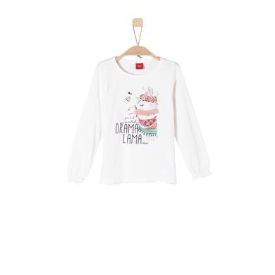 Minigirloberteile - s.Oliver Girls Langarmshirt ecru - Onlineshop Babymarkt