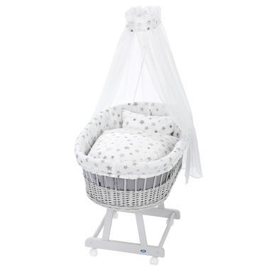 Stubenwagen und Wiegen - Alvi® Komplettstubenwagen Birthe silbergrau 777 9 Sterne silbergrau  - Onlineshop Babymarkt