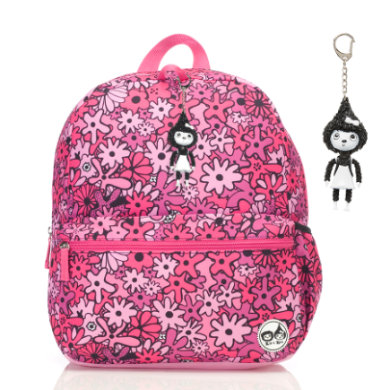 Zip & Zoe Junior Backpack Floral Pink