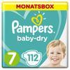 Pampers Baby Dry bleier Gr. 7 Extra Large 112 bleier 15+ kg månedspakke