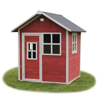 EXIT Dřevěný domeček Loft 100 červený