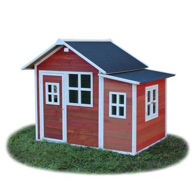 Spielhäuser und Sandkästen - EXIT Holzspielhaus Loft 150, rot  - Onlineshop Babymarkt